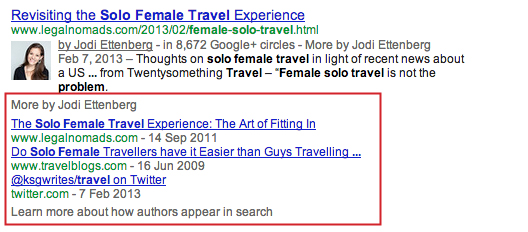 More By results displayed via google authorship