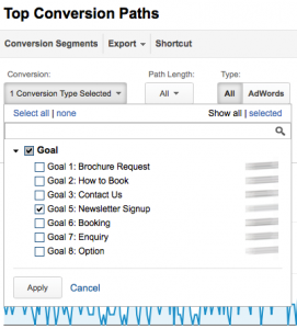 select conversions multi touch attribution social media travel