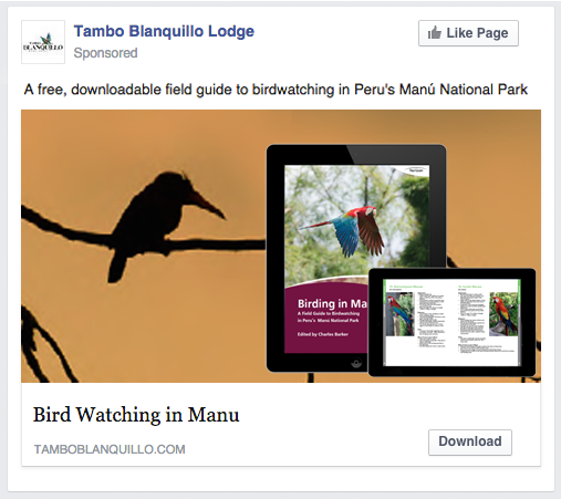 facebook advertising for content amplification - travel content marketing