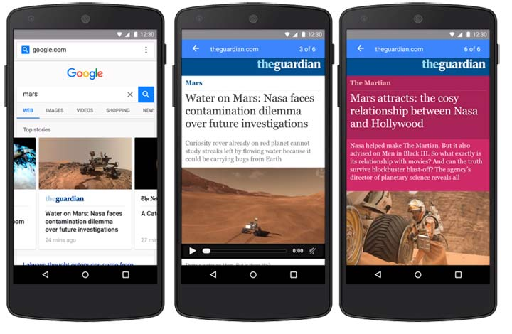 google accelerated mobile pages for travel content marketing