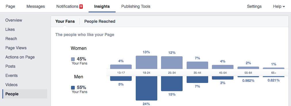 facebook insights audience mapping travel content marketing